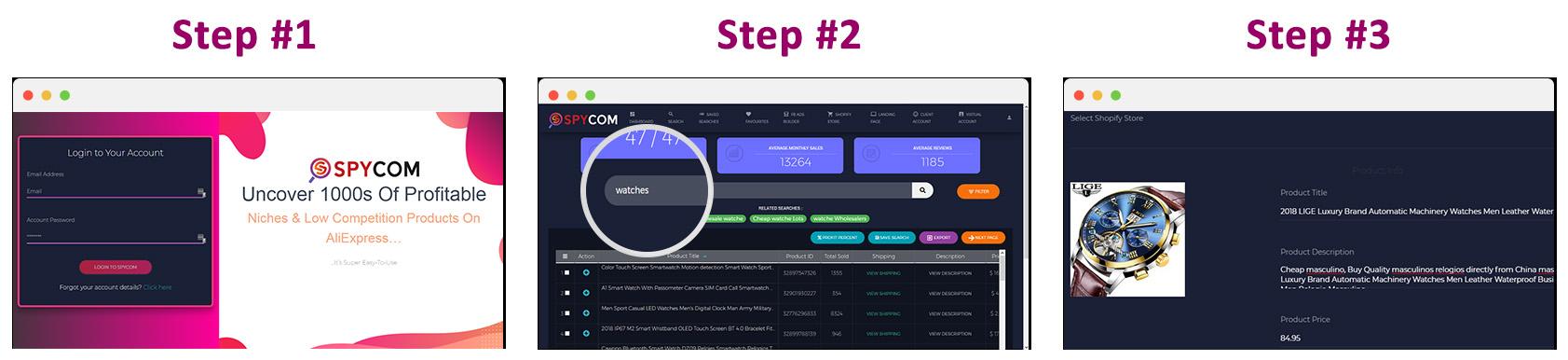 spycom-steps