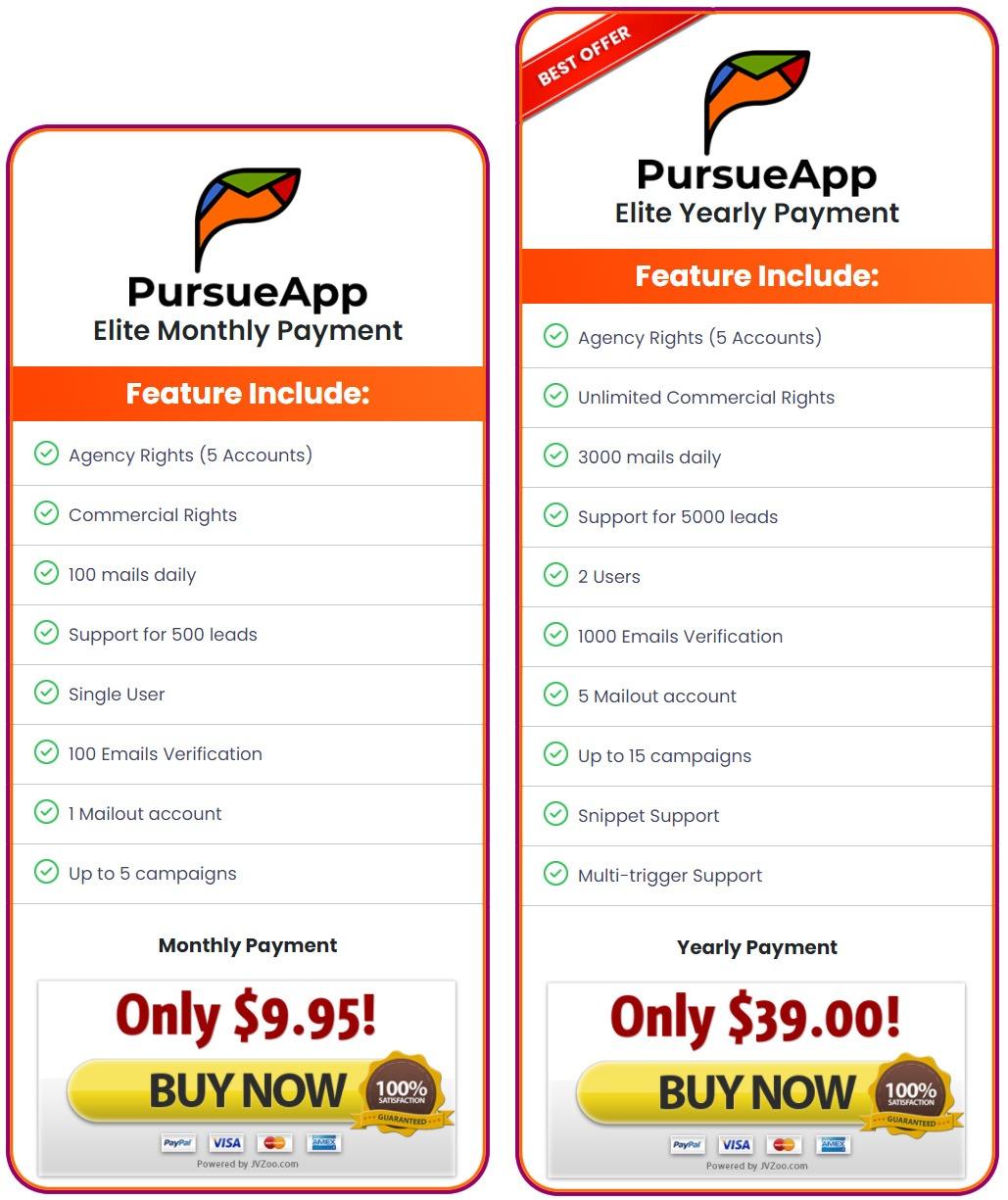 pursue-app-price